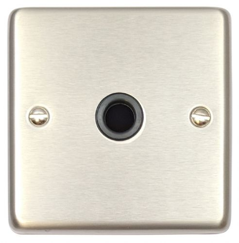 G&H CSS79B Standard Plate Brushed Steel 1 Gang Flex Outlet Plate